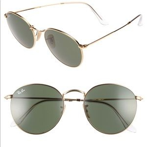 Ray-Ban Icons 53mm Retro Round Sunglasses